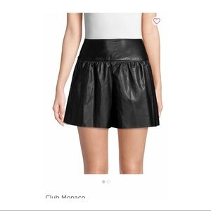 Club Monaco Faux Leather Shorts